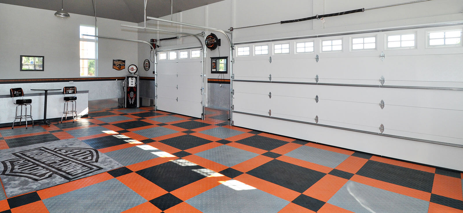 Portable Parking Garage >> Harley-Davidson garage flooring
