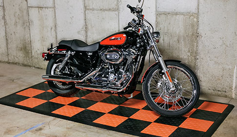 Sportster Custom on a motorcycle display pad