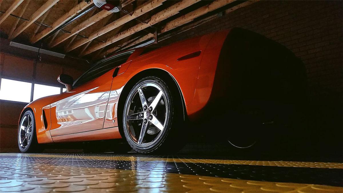 Corvette parked on CircleTrac®
