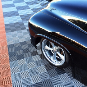 A Chip Foose design on Free-Flow flooring
