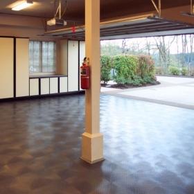 A three car garage with RaceDeck XL