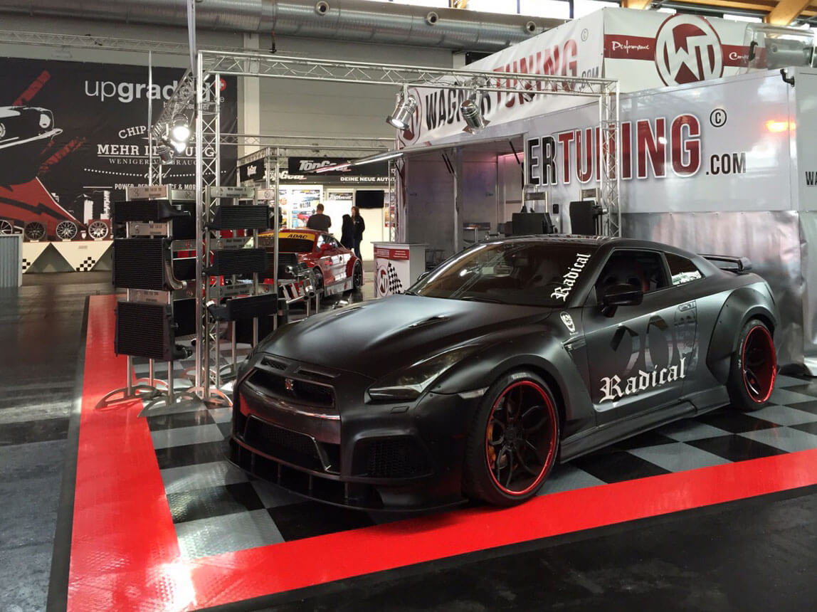 RaceDeck XL used for Wagner Tuning's trade show display flooring