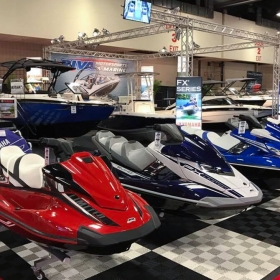 Yamaha WaveRunner display using Free-Flow black and white
