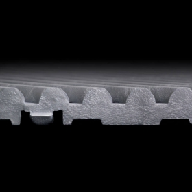 Side view of the Dual-Traction Tread on Free-Flow XLC