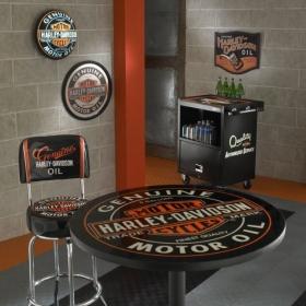 Harley-Davidson showroom with Harley-Davidson garage floor tiles