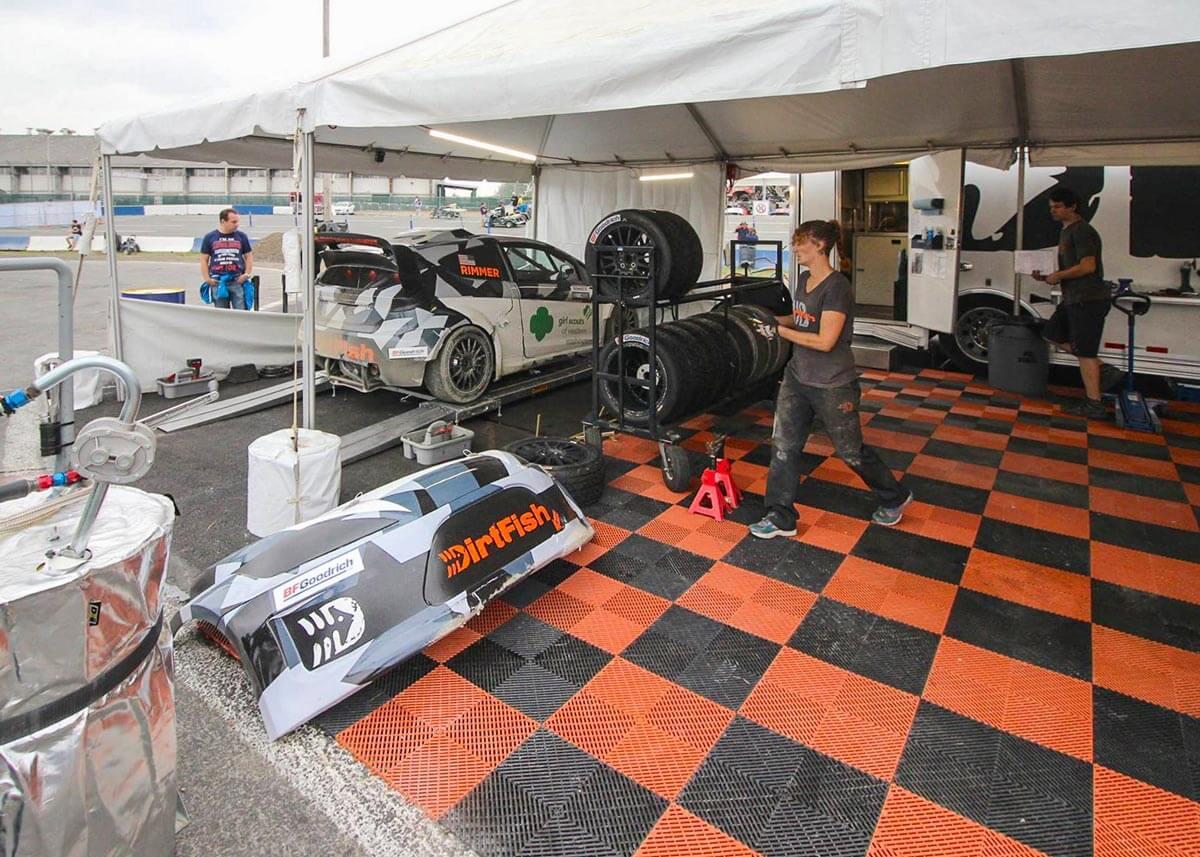 A Rallycross Paddock floor