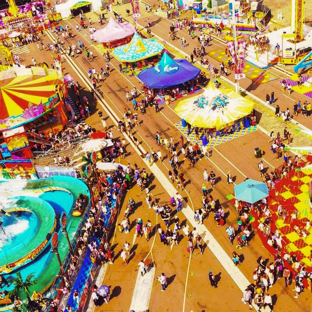 Various colors of Free-Flow tile at a carnival in Australia