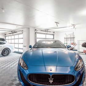 Free-Flow garage with Maserati in Holladay, Utah
