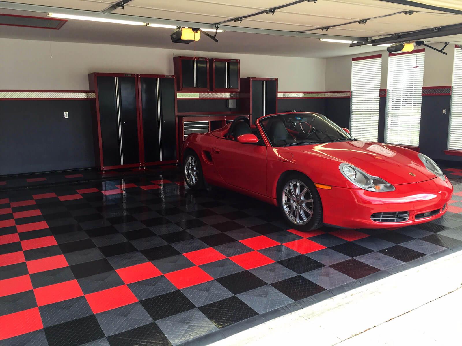 Red Porsche on RaceDeck Diamond