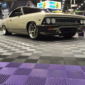 Free-Flow used as auto show flooring at SEMA