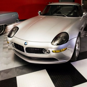 BMW on a RaceDeck Diamond modular floor