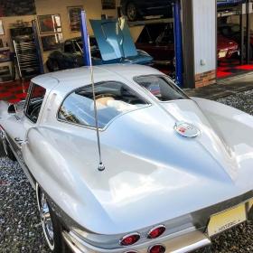 Corvette stingrays and a RaceDeck garage floor