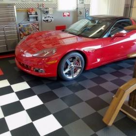 Corvette garage floor