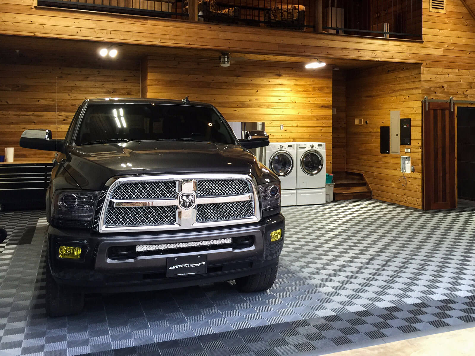 Dodge ram 3500 in a garage with Free-Flow