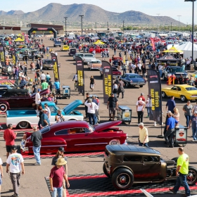 Goodguys event with RaceDeck parking pads