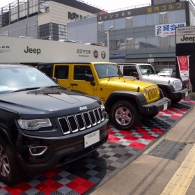 Jeep dealership with Free-Flow parking pad