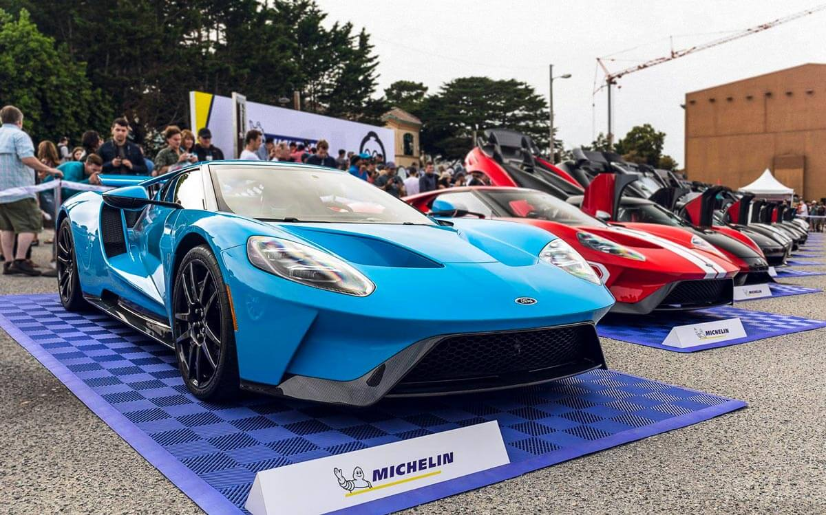 Michelin super car displays
