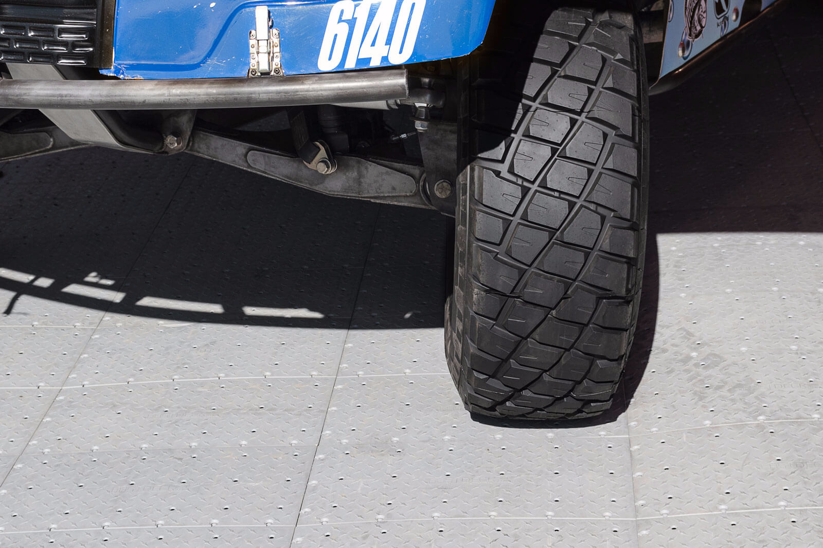Off-road vehicle on FastDeck flooring