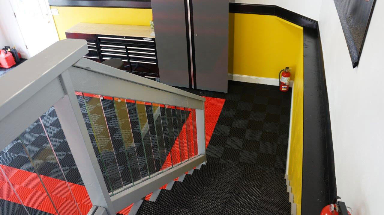This garage even has Free-Flow on the stairs