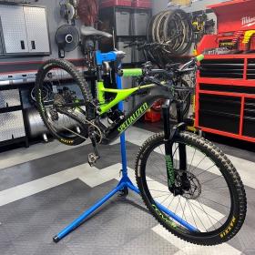 Bike in a Diamond alloy and graphite garage with custom design