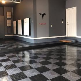 TuffShield RaceDeck Diamond Tesla Garage