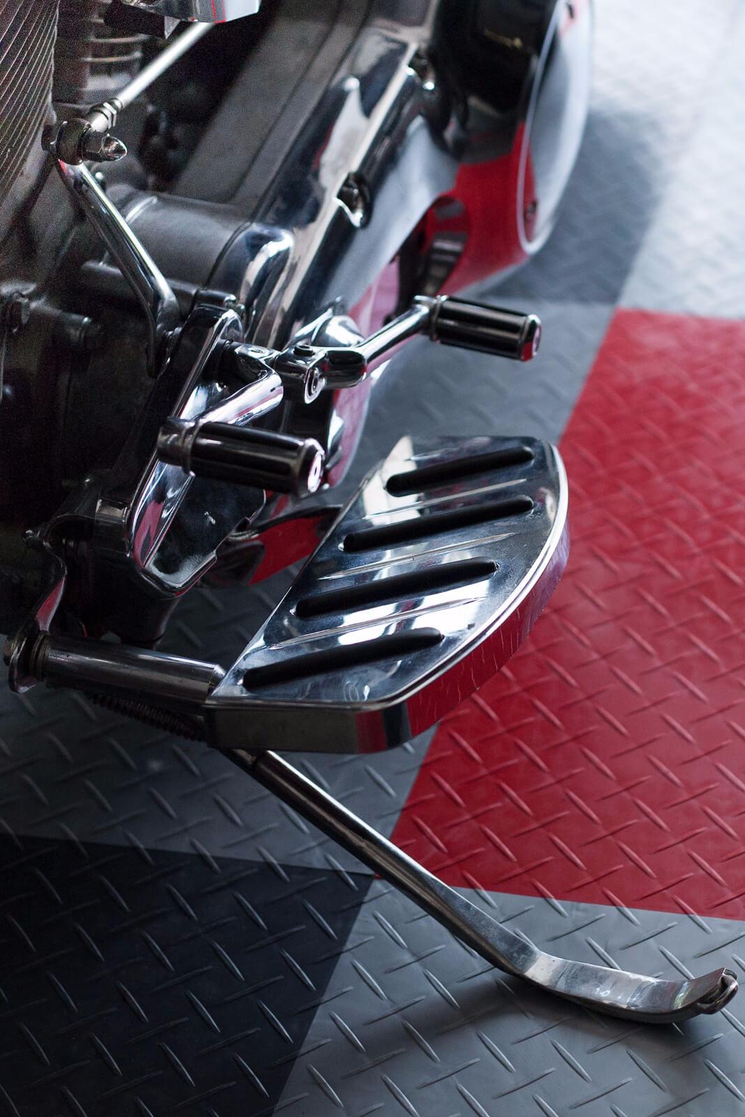 Detail shot of motorcycle