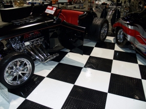 Checkered RaceDeck Diamond at car show