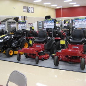 RaceDeck Diamond alloy display flooring for lawn mowers at Sears