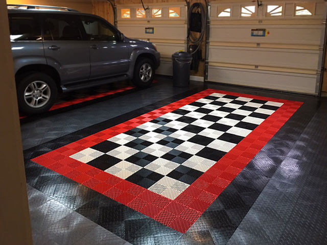 Garage with RaceDeck Diamond and Free-Flow