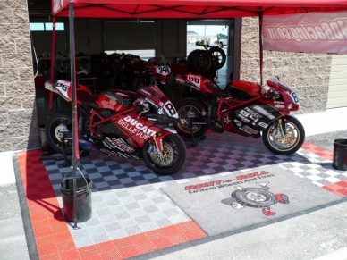 Ducati racing display with Free-Flow