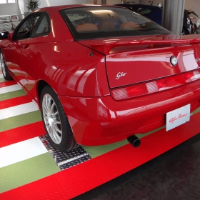 Alfa Romero display with Accupark guides