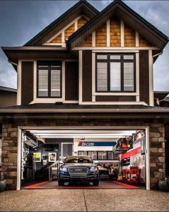 Audi home garage with RaceDeck Free-Flow flooring