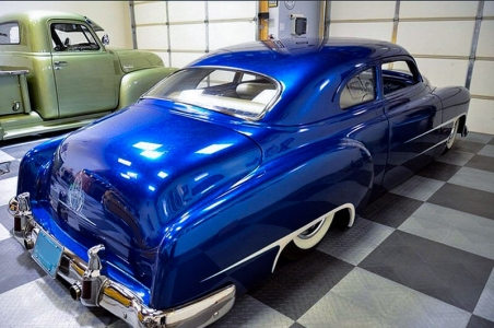 Blue hot rod