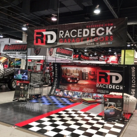 RaceDeck mobile display at car show