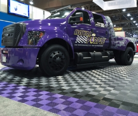 Royal Purple Toyota truck on Free-Flow