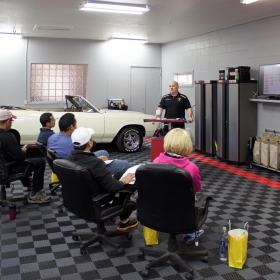 Detailing center with Free-Flow flooring,, Malibu crew