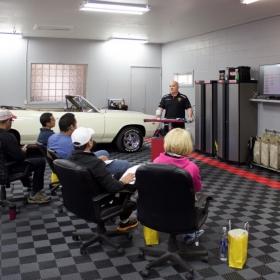 Detailing center with Free-Flow flooring,, Malibu crew