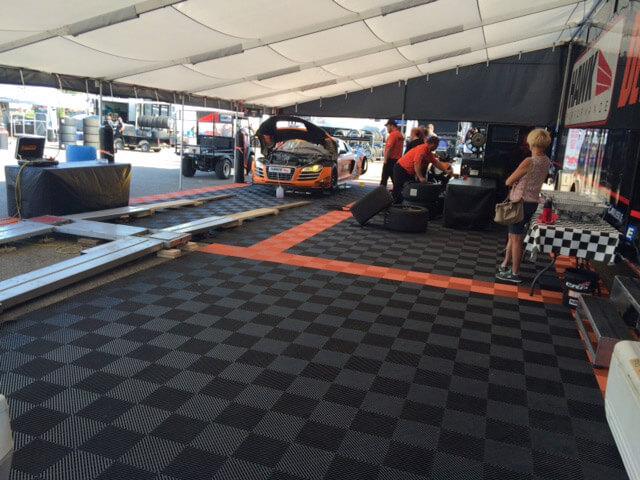 Free-Flow XL in a race paddock