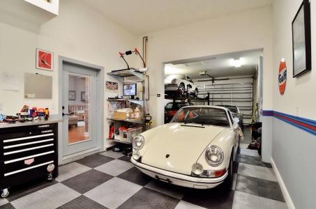 Garage with vintage Porsche
