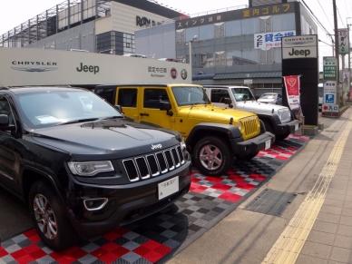 Jeep dealership flooring