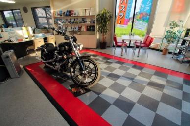 Motorcycle display pad in Japan