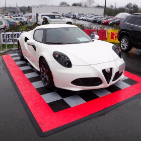 Alfa Romero parking pad