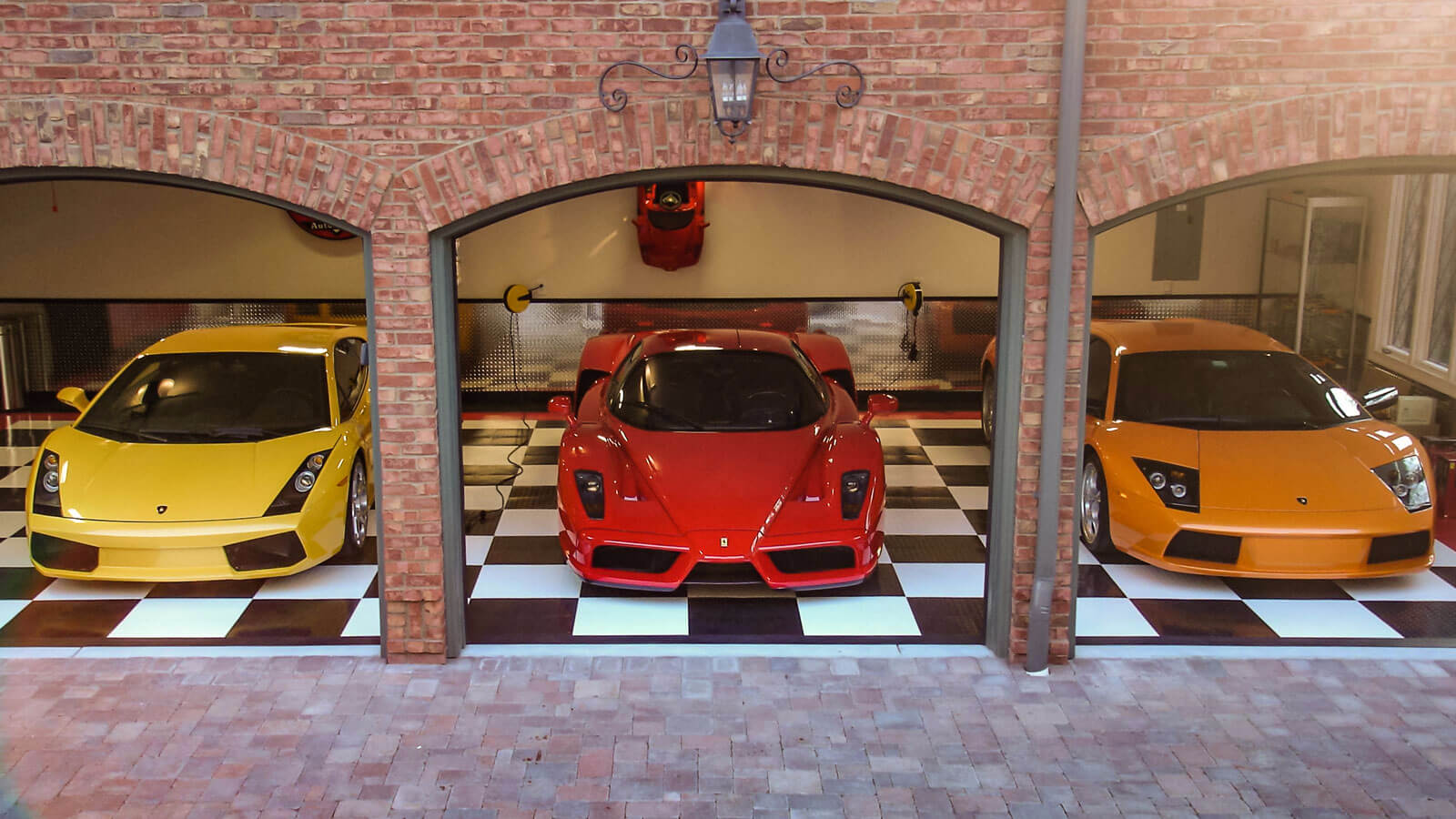 Three super car garage
