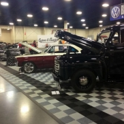 Customs & Classics car show display with Free-Flow flooring.