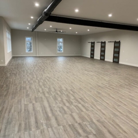 Smoked Oak flooring covers this entire garage.