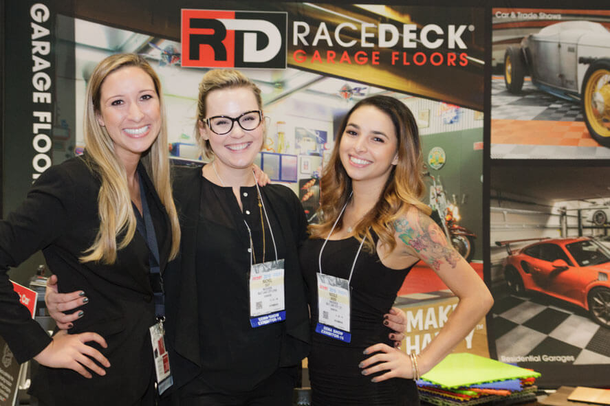 The RaceDeck both at the 2016 SEMA Show
