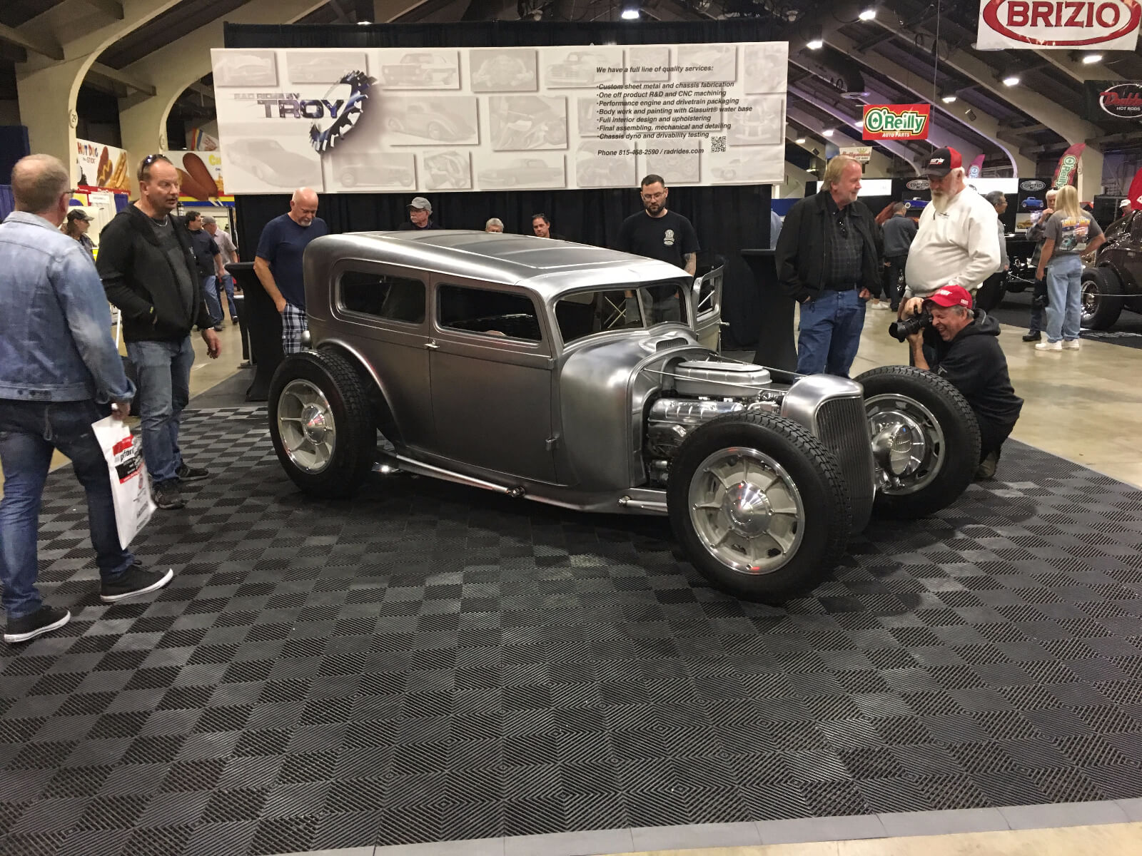 Free-Flow display with a 1929 Ford Tudor