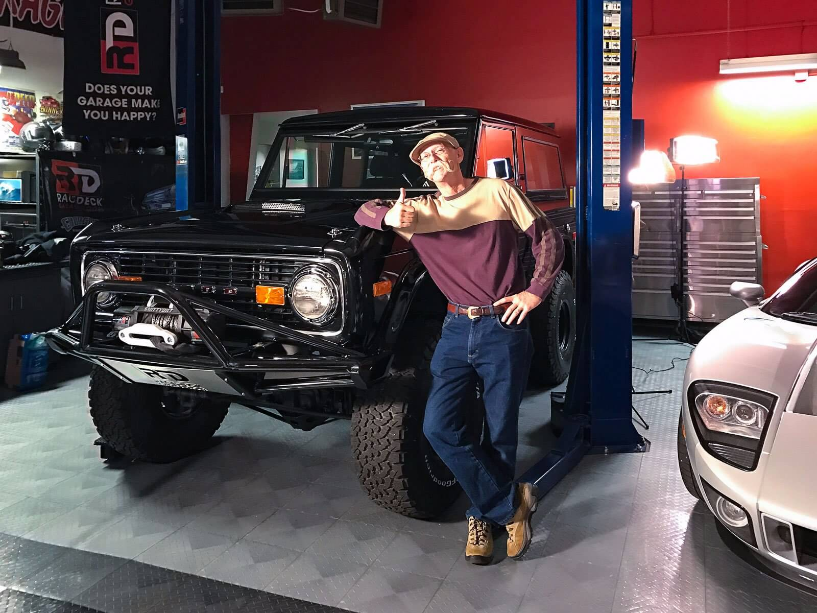 Dennis Gage with the '74 Classic Bronco