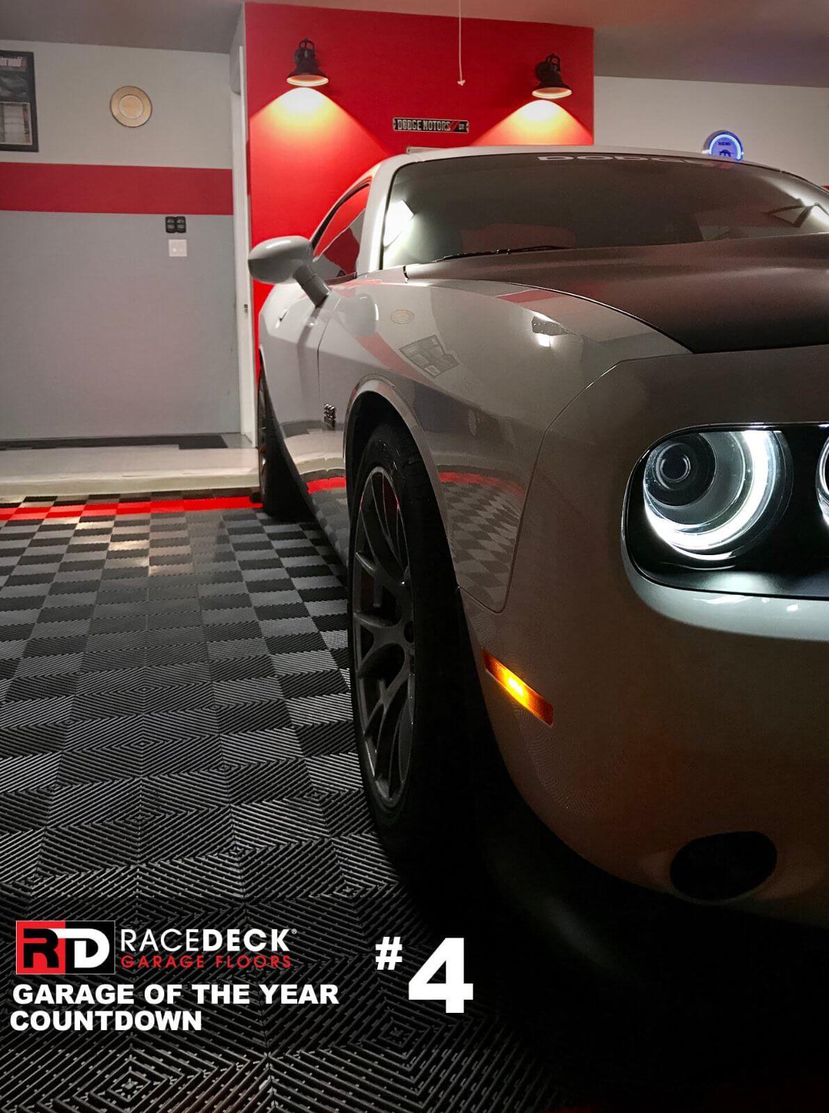 This Free-Flow<sup>®</sup> garage displays cool lighting at nighttime.