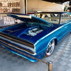 Alloy Free-Flow flooring on classic car displays
